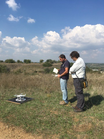 Remote sensing with drone, Metaponto Italy